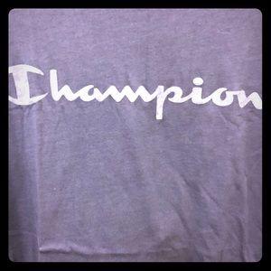 CHAMPION MENS DARK BLUE TEE